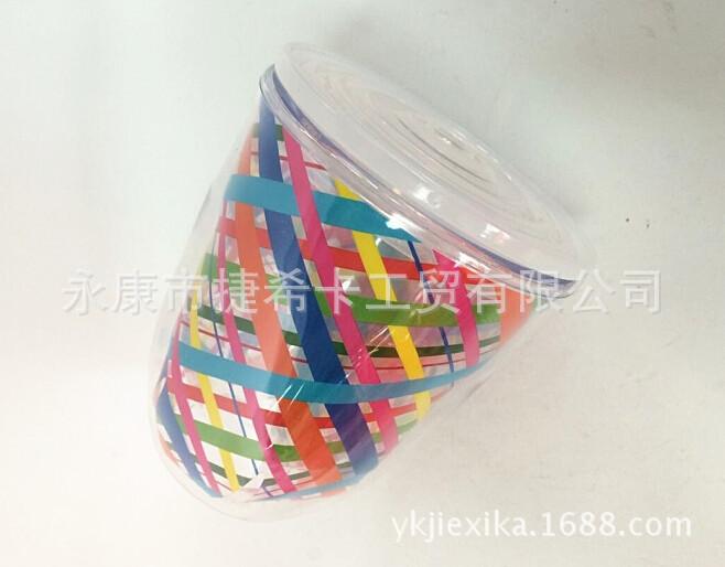 创意新款塑料红酒杯 多色印刷环保材质塑料高脚杯厂家直销