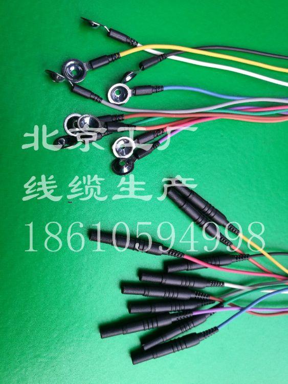 电极线,银盘电极,氯化银电极,脑电极线,脑电线,桥式电极,耳夹电极