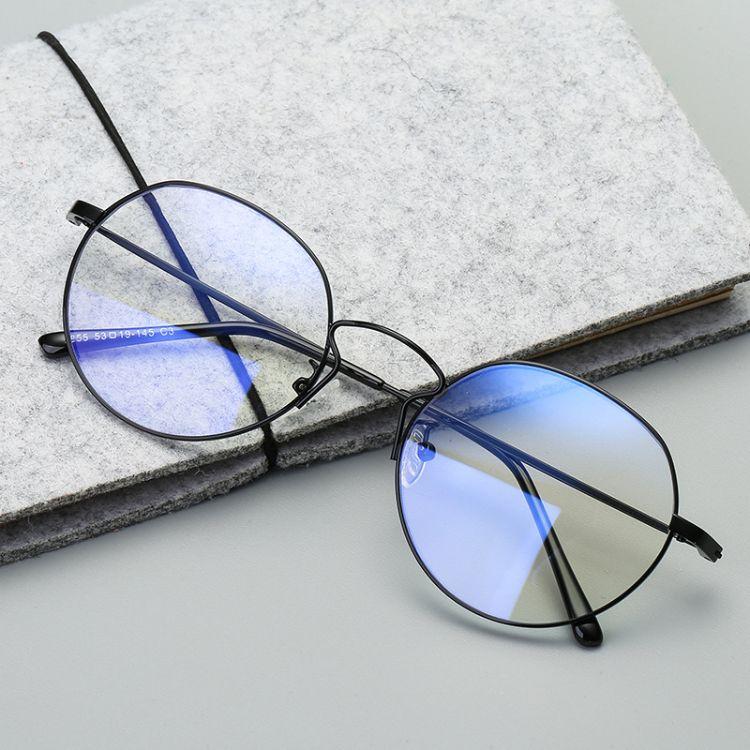 2018新款金屬潮流平光鏡 防藍光時尚眼鏡 光學鏡眼鏡框眼鏡架復古