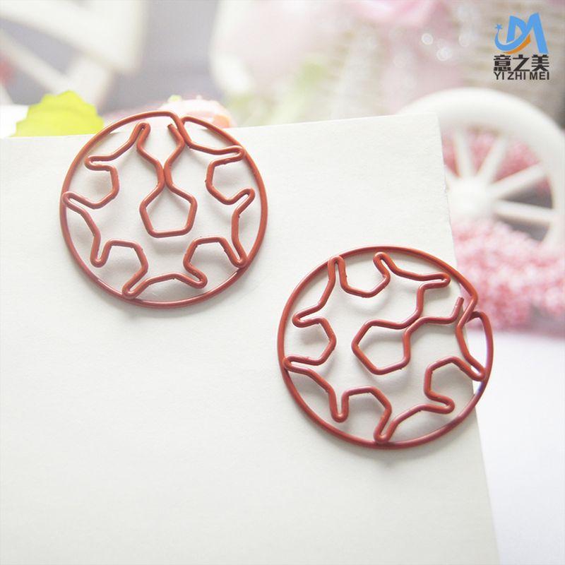1.2mm红色包塑线异形回形针 创意金属曲别针 多款金属造型回形针