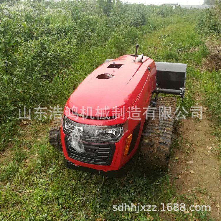 新款果园开沟施肥机小型履带式微耕机遥控自走式田园管理机厂家