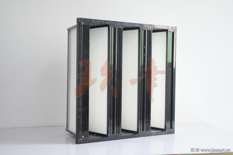 JWTF-3V空气过滤器 亚高效空气过滤网 W型框密折式空气过滤器