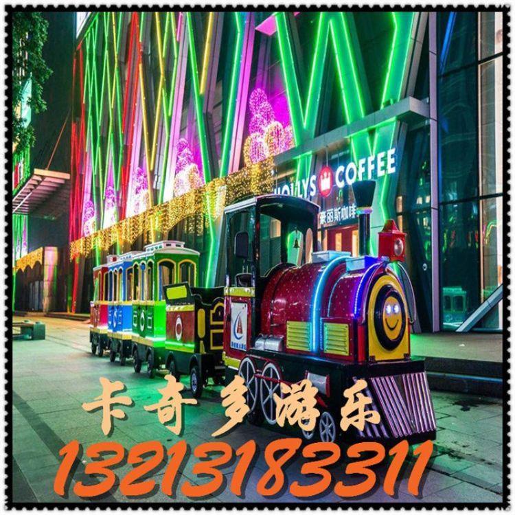 仿古观光火车儿童游乐设备 郑州无轨观光火车 河南厂家直销