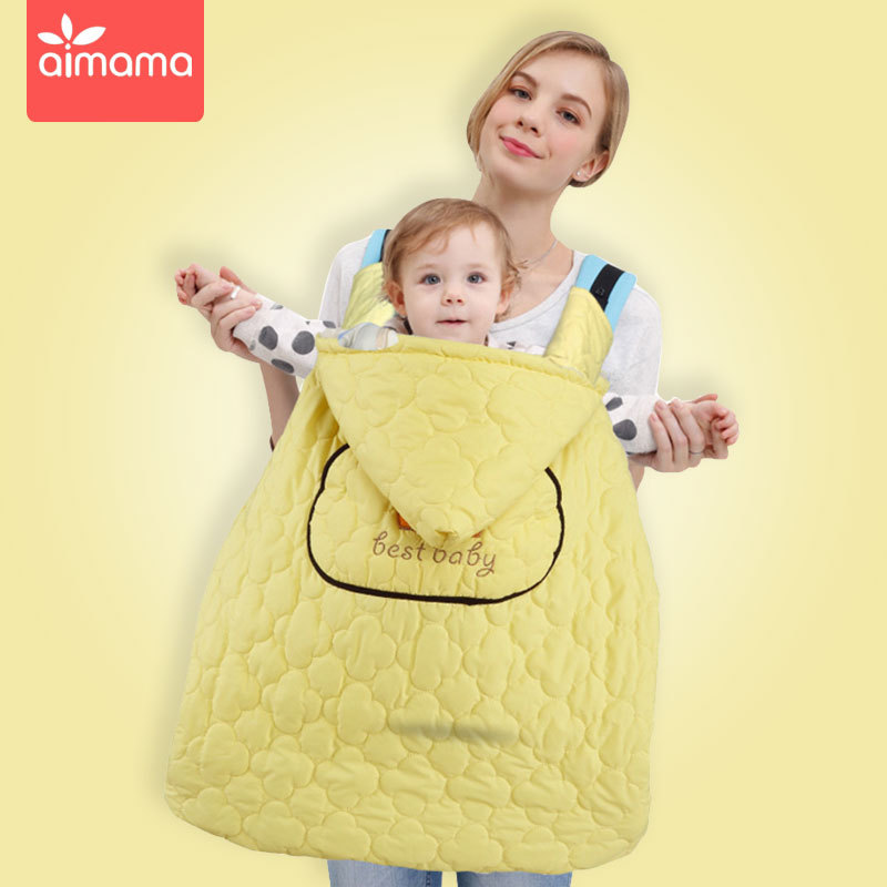 秋冬款多功能婴儿背带披风宝宝背带防风披风包被婴儿抱毯一件代发