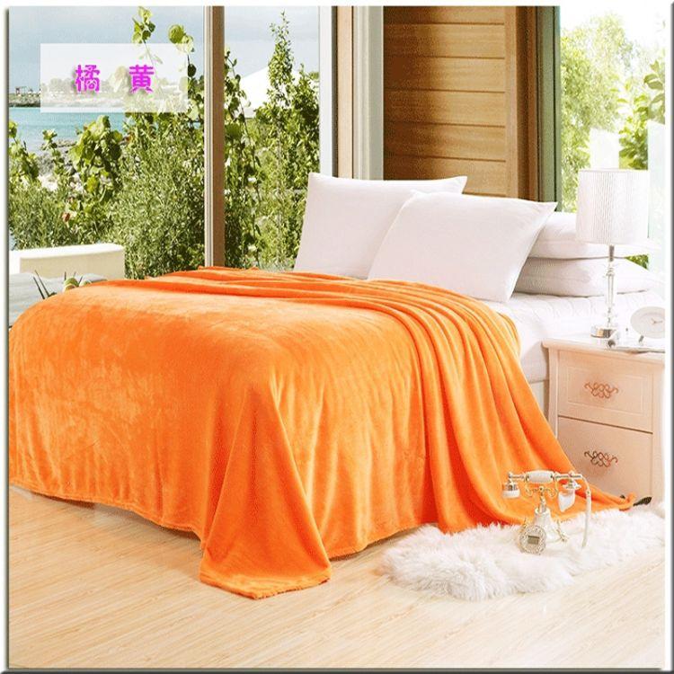 优质珊瑚绒升级超柔素色纯色法兰绒毛毯法莱绒毯子保暖床单礼品毯