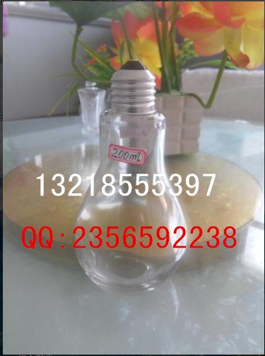 新款 灯泡饮料瓶 奶茶瓶 灯泡玻璃瓶 创意酸奶杯果汁奶茶店饮料瓶