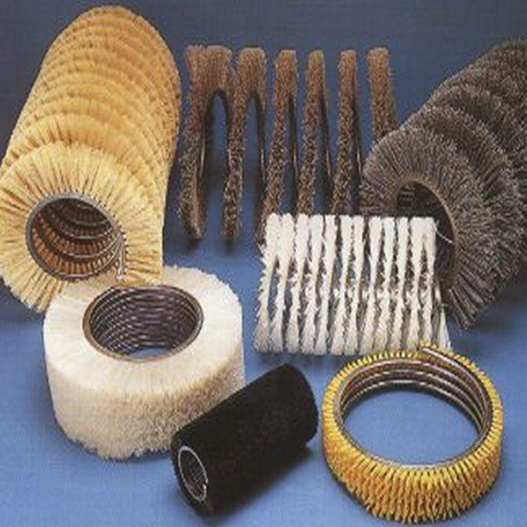 加工工业毛刷 内外缠绕式弹簧刷 高密度尼龙磨料丝弹簧刷,欢迎选购