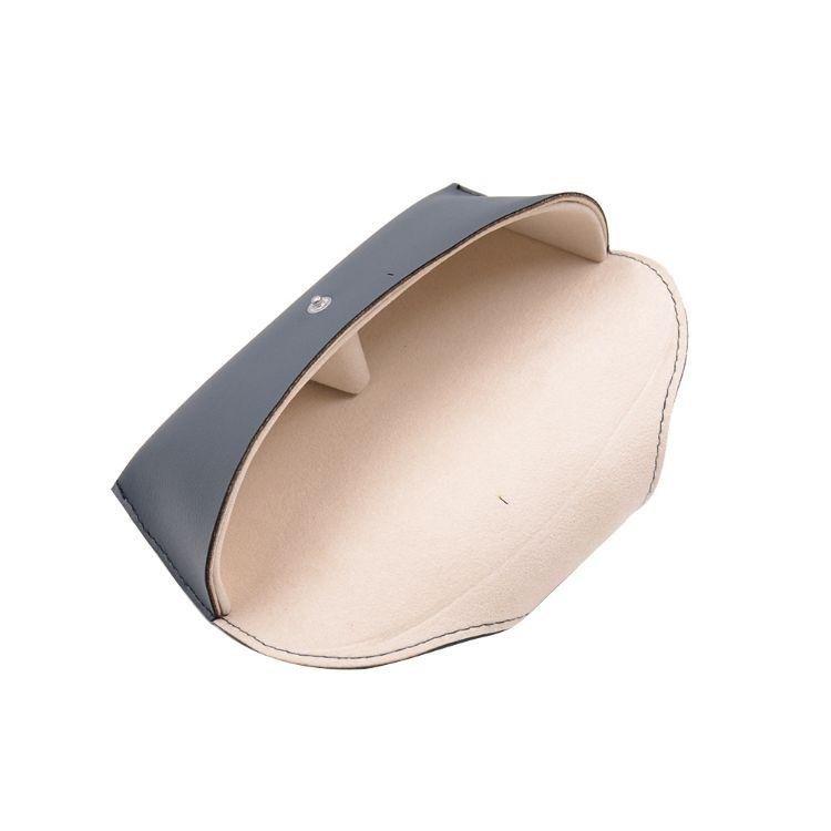 2018新款眼鏡盒太陽鏡定制手工黑色皮質PU皮革抗壓代發老花鏡盒