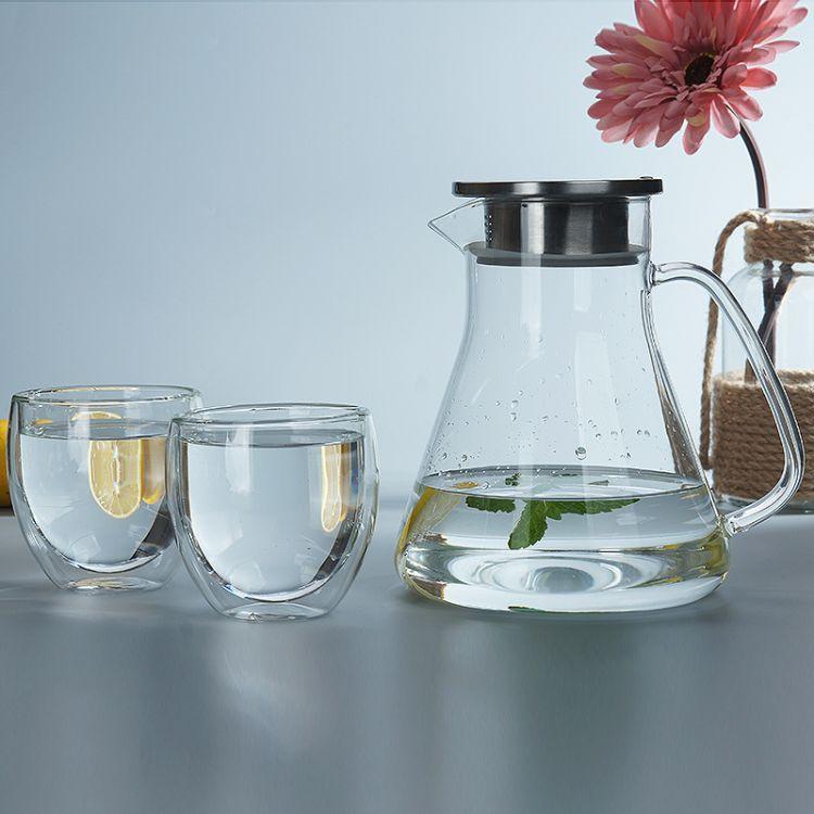 耐热加厚玻璃冷水壶大容量果汁扎壶玻璃壶水杯水具套装家用凉水壶