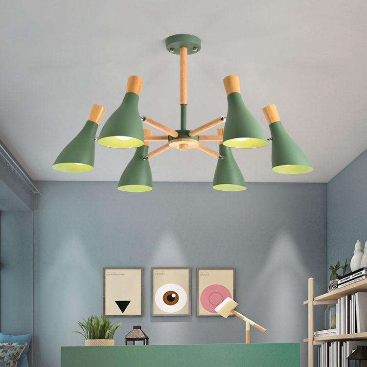 北欧创意铁艺灯马卡龙吊灯 简约个性客厅办公室led灯灯具灯饰批发