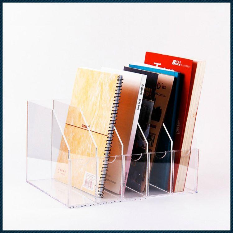 亚克力杂志架展示架资料架 文件架 �嚎肆φ故炯苡谢�玻璃架