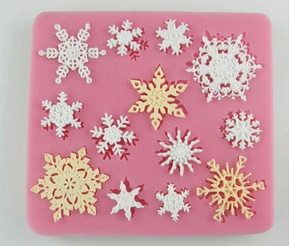蛋糕翻糖雪花饼干模具蛋糕DIY烘焙硅胶工具 液态硅胶模具批发。