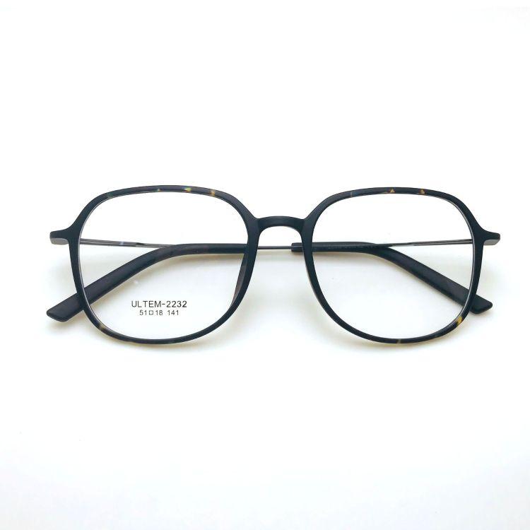 2232塑鋼眼鏡框超輕新款個性方形眼鏡架男女時尚舒適光學架可配鏡