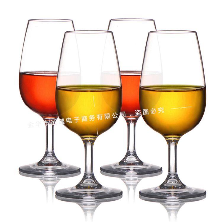 跨境热卖透明红酒杯 进口Tritan材料耐摔塑料酒杯高脚杯 来样定做