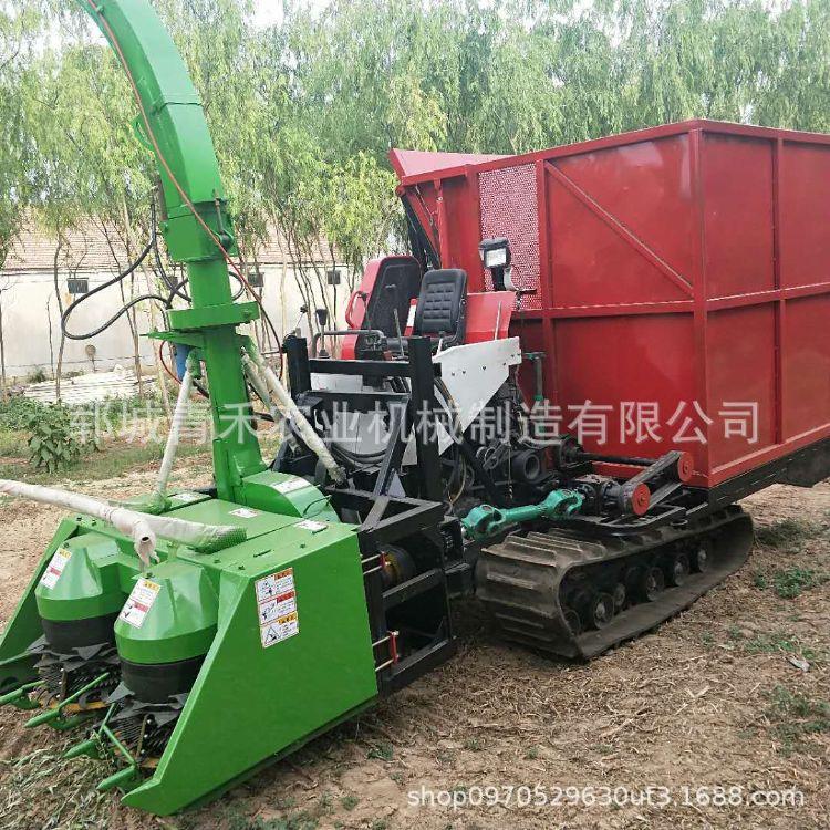 新品 牧草收割草料粉碎机  大功率高效收获 自走式大型玉米青储机