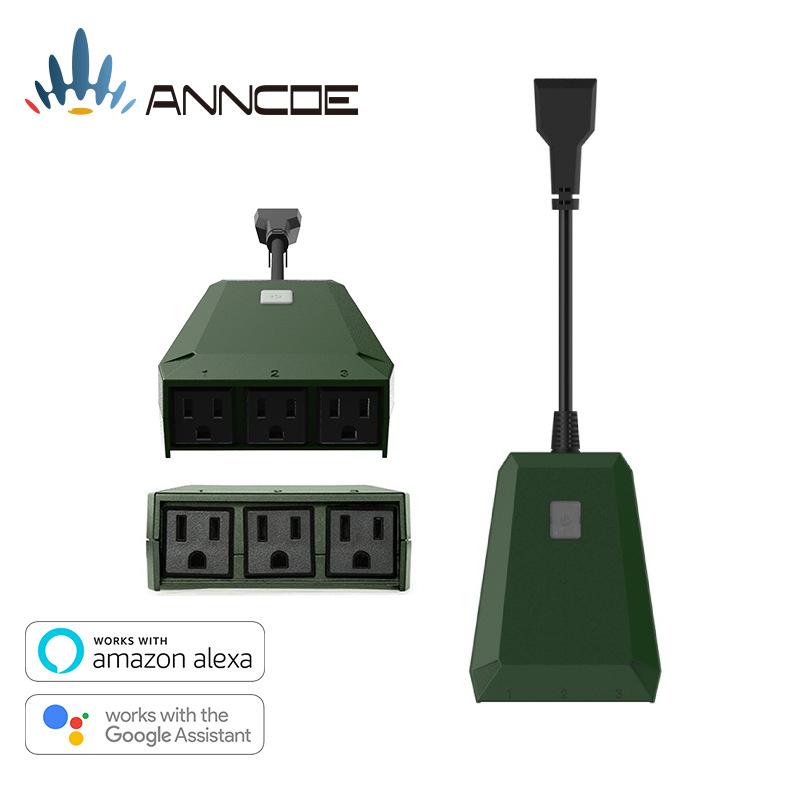 智能插座IP44防水无线远程遥控插座 搭配户外LED灯带 wifi插座
