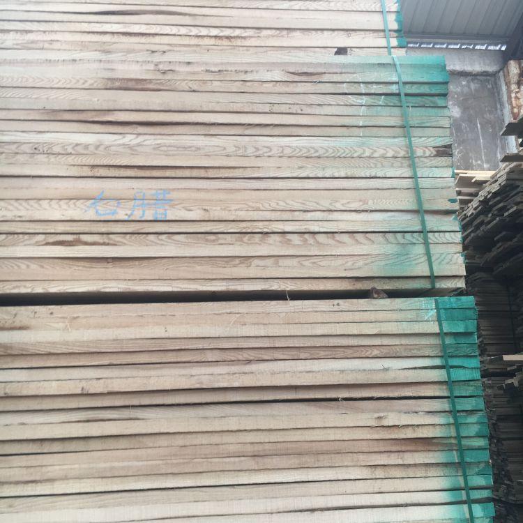 优质水曲柳厂家直销防腐白蜡木原木 无节白蜡板材  原木防腐实木