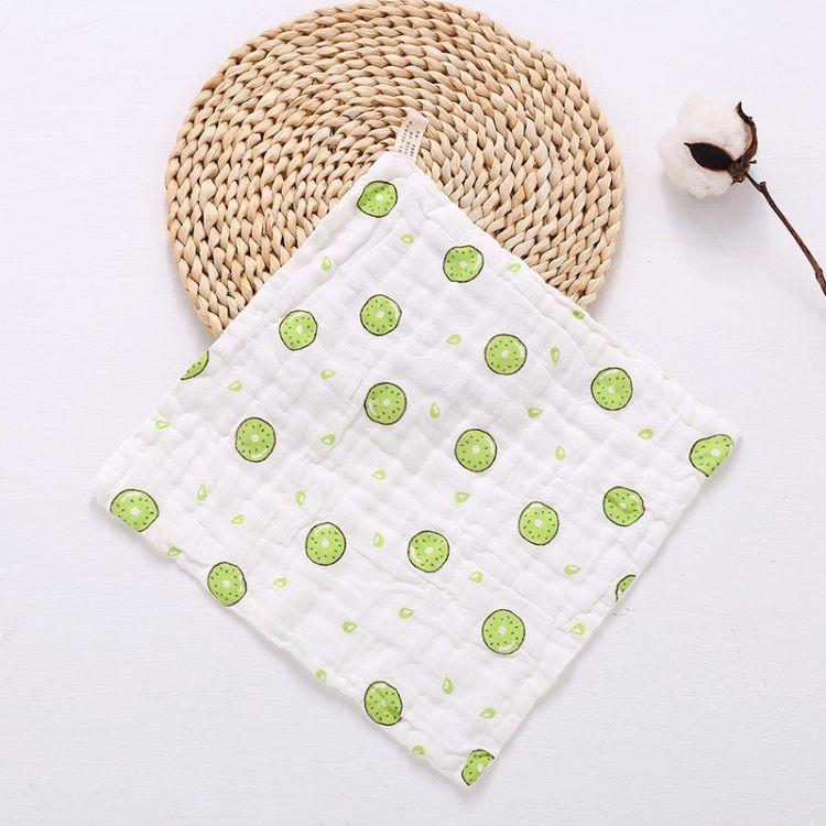 婴儿纯棉方巾 6层柔软水洗纱手帕30*30cm 医用纱布宝宝手帕口水巾