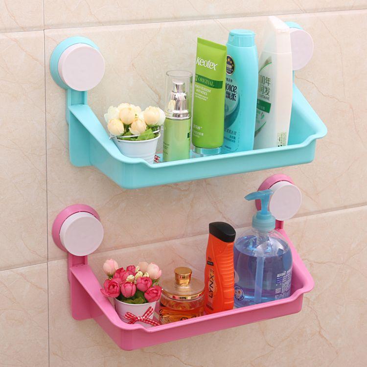 强力双吸盘置物架 浴室卫生间收纳架 厨房杂物整理架