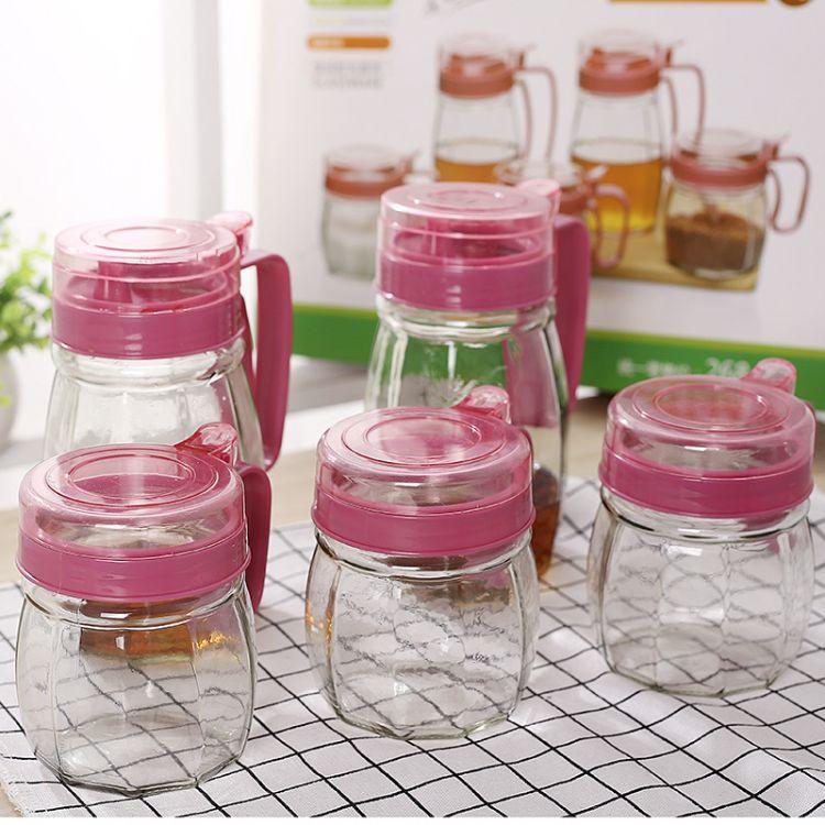 厨房用品 玻璃油壶调味罐五件套套装 调味瓶控油壶二四件套 礼品