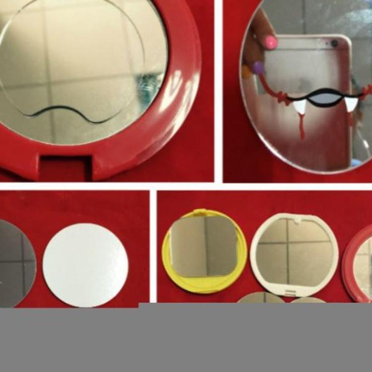 玻璃镜片 小玻璃镜片  雷雕LED化妆镜片