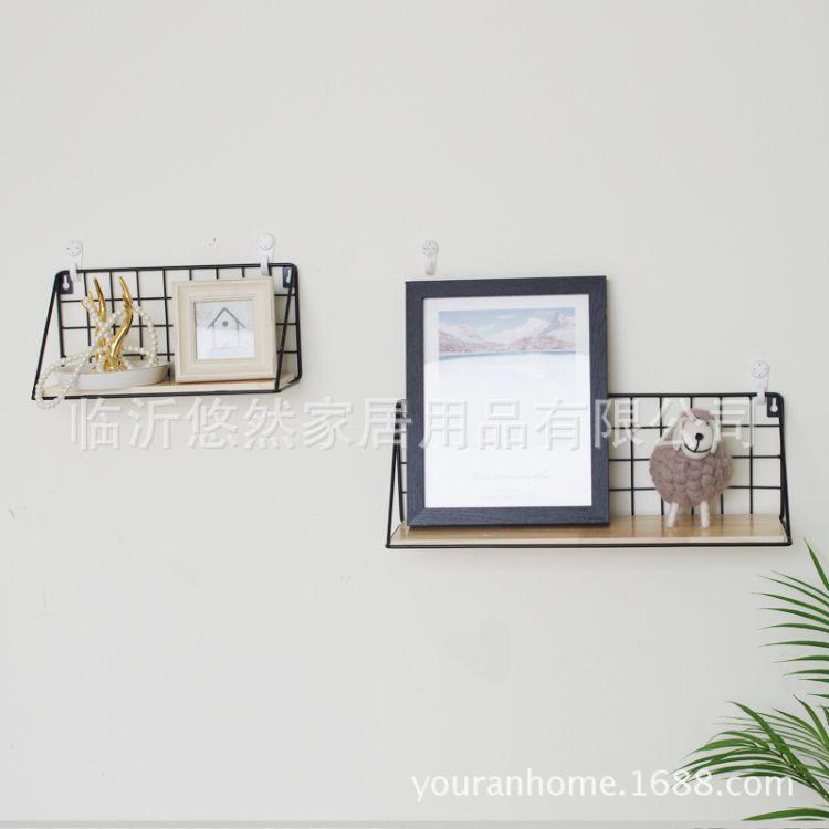 厂家直销日式置物架墙上免打孔壁挂式一字搁板收纳整理架厨房壁挂