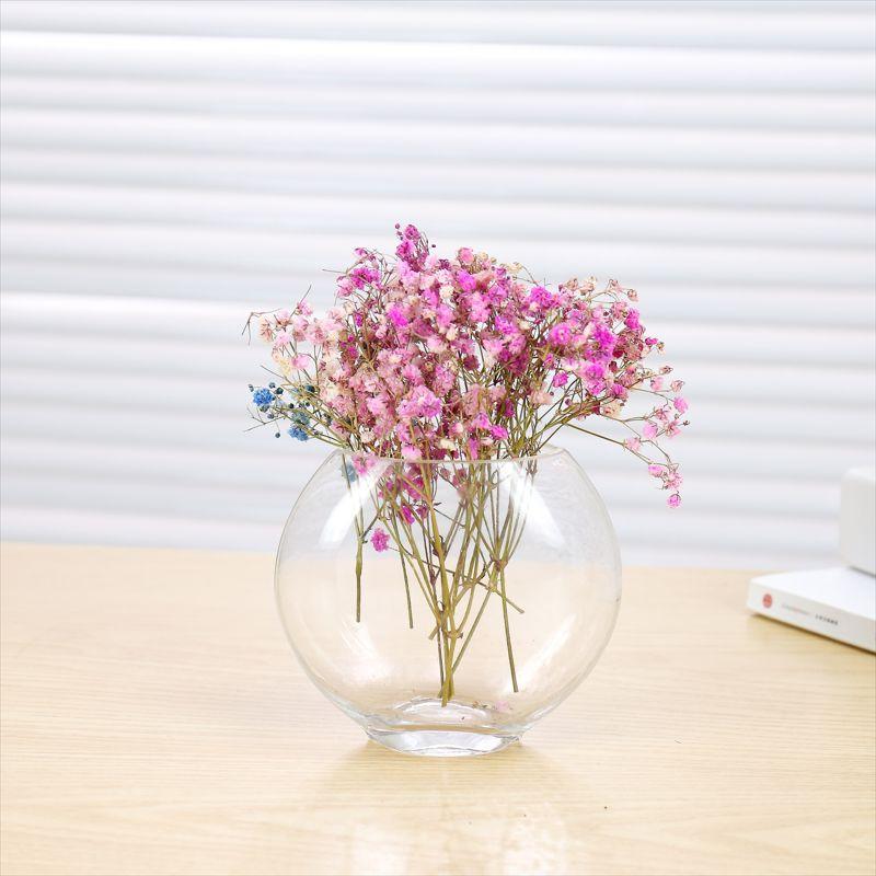 热卖玻璃花瓶透明吹制玻璃扁缸沙画玻璃瓶水培微景观多肉玻璃花瓶
