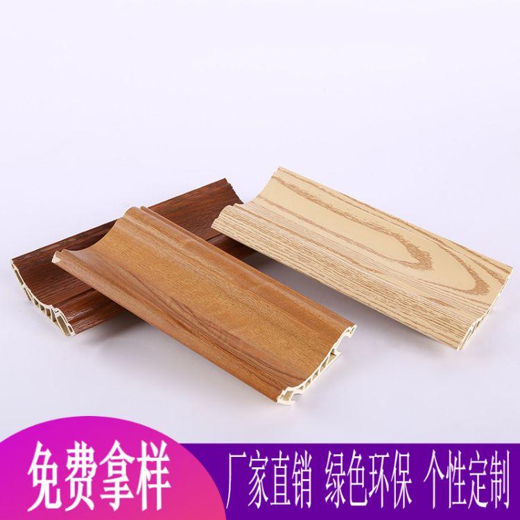 厂家直销步威100顶角线竹木纤维装饰线条墙面快装板安装角线定制