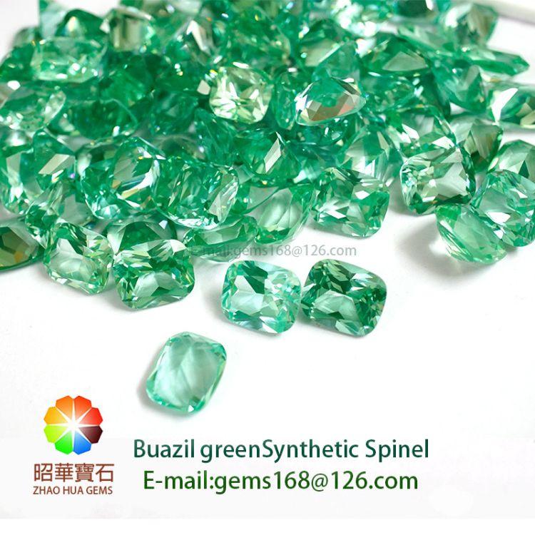 巴西祖母绿尖晶 135#绿尖晶  梧州人工宝石
