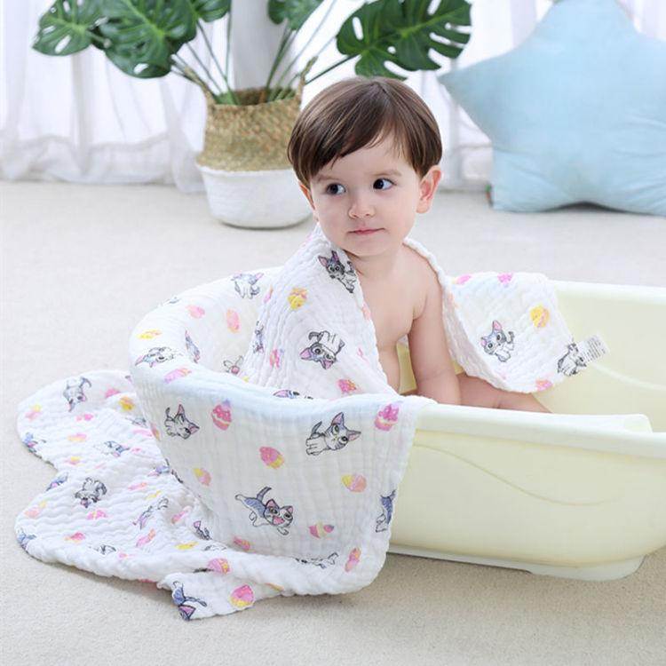 婴儿纯棉纱布浴巾超柔吸水新生儿抱被包巾宝宝盖毯毛巾被母婴用品