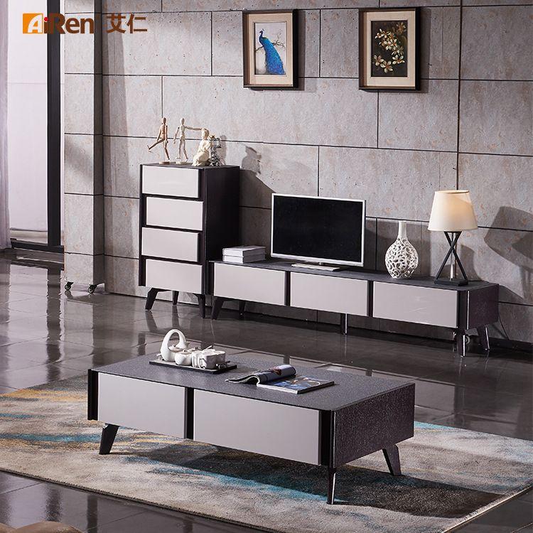 火烧工艺玻璃台面黑白百搭时尚客厅家具 餐台餐椅配套