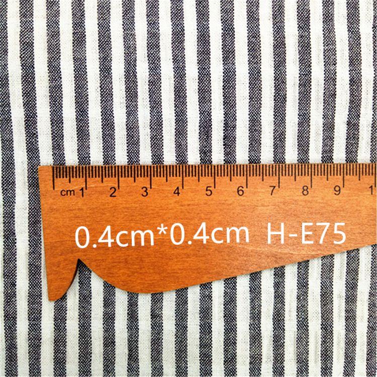 厂家直销 时尚衬衫连衣裙服装面料 混纺色织条纹弹力绉布一花几色