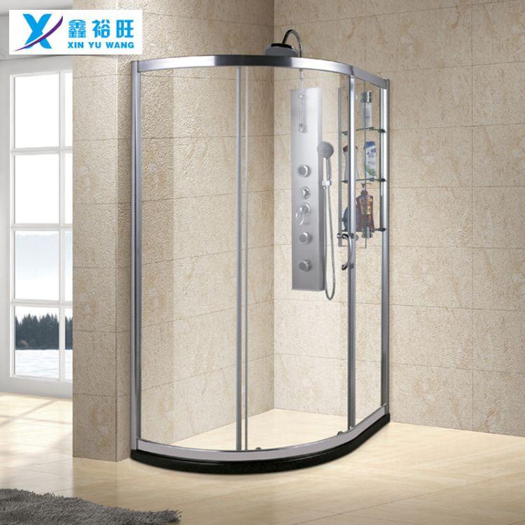定制简易弧扇形淋浴房 钢化玻璃淋浴房批发 家用淋浴房定做