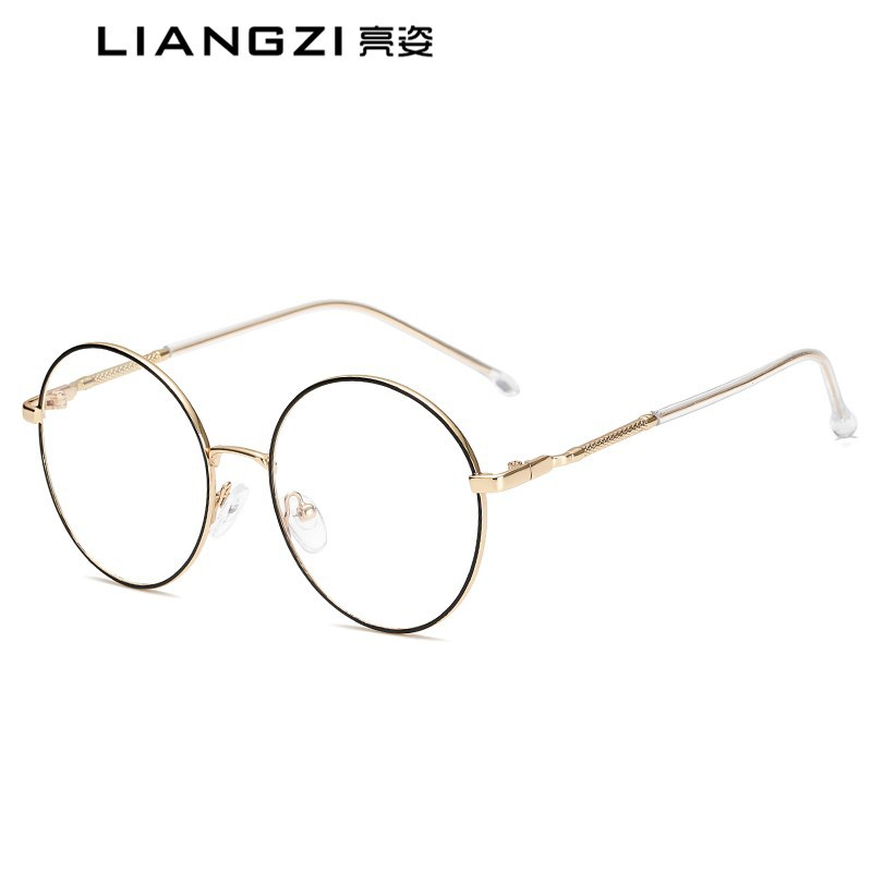 新款眼鏡框復古防藍光眼鏡平光鏡金屬圓框框架眼鏡男女通用