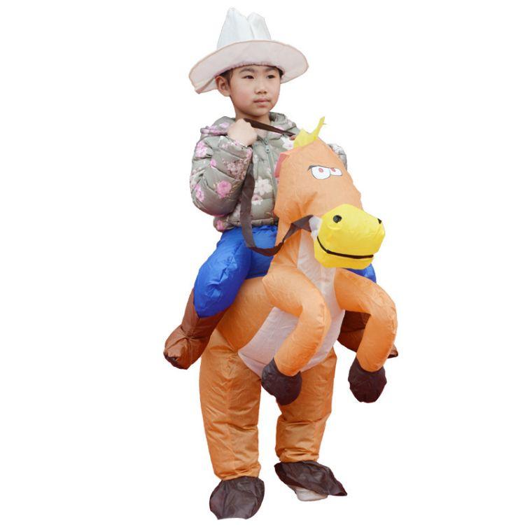 儿童充气服装充气马化装舞会道具涤纶材质纯手工加工定制充气服装