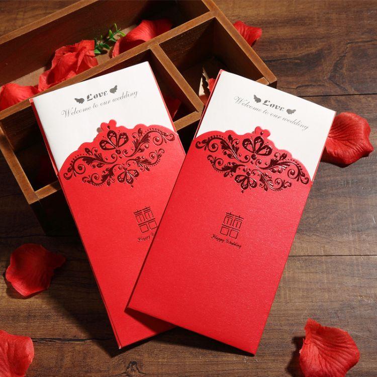 结婚请帖创意2018个性婚礼请柬喜帖韩版邀请函婚庆喜帖定制打印