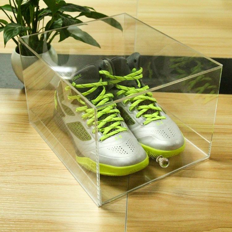 手拉工藝亞克力透明鞋盒 運動鞋籃球鞋收藏亞克力防塵收納盒定做