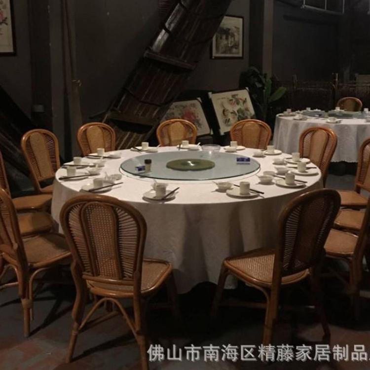 酒店餐厅家具定做藤编餐厅家具桌椅农庄茶餐厅家具 定做支持厂家