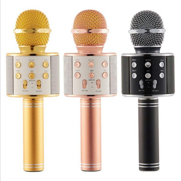 WS858手机无线蓝牙麦克风全民K歌宝话筒掌上KTV直播 唱吧专用音响