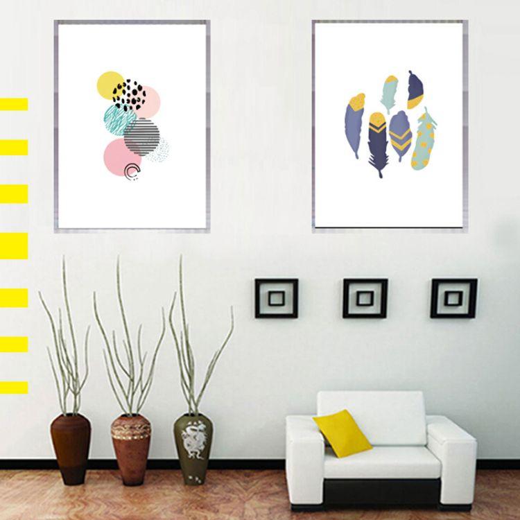定制 新品涂鸦装饰画 多色客厅墙画 玄关挂画 壁画有框画