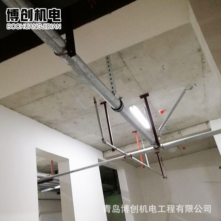 青岛抗震支架  管道支吊架设计抗震支架 C型支架厂家 可安装