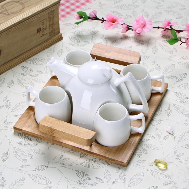高档白瓷套装 茶具套装 创意陶瓷茶具批发 可定制LOGO