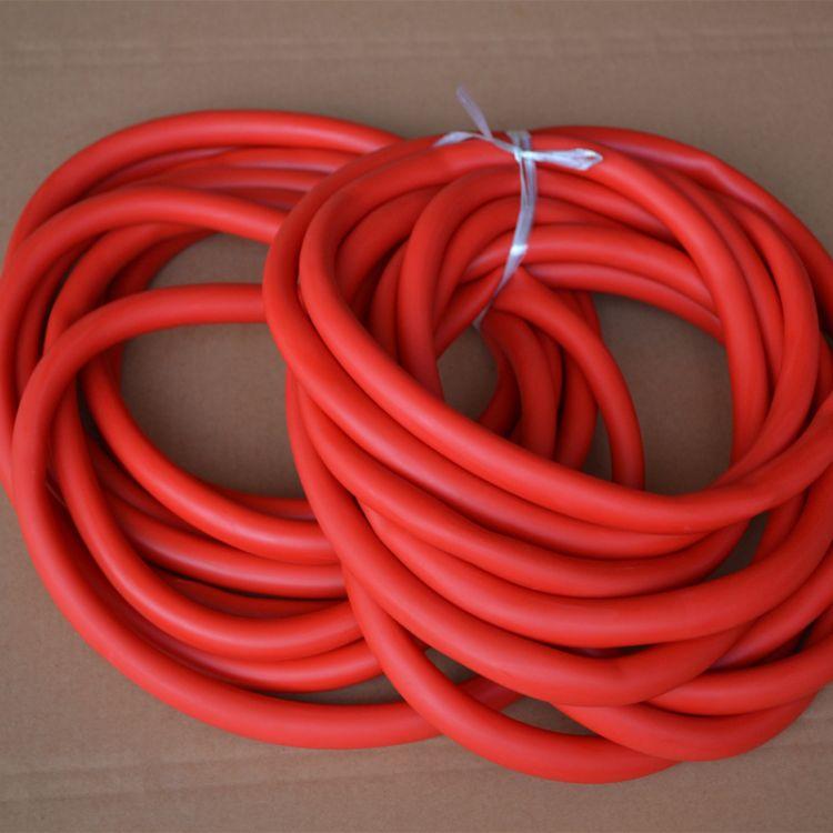 工厂直供各种型号双色天然乳胶管 高质量拉力器专用乳胶管 现货供