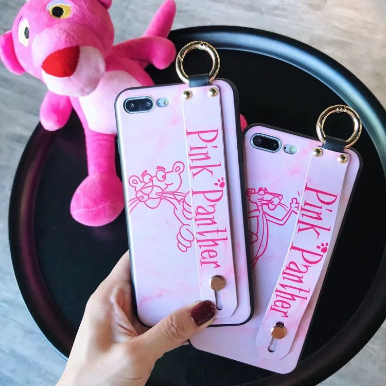 iPhoneXsMax卡通粉红顽皮豹手机壳8plusvivor15梦境版x21保护套