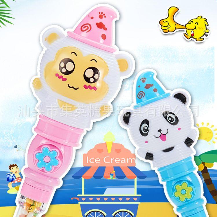 集英糖果玩具声光卡通玩具糖4g厂家直销新品零食糖果玩具批发混批