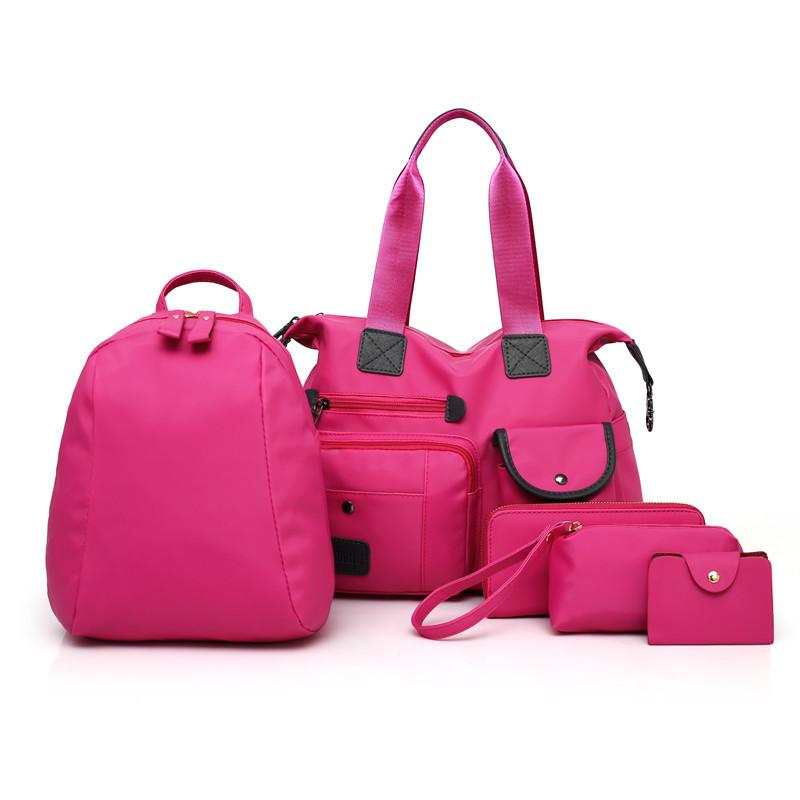 子母女包2018夏季新款五件套欧美时尚百搭女士单肩包手提女包双肩