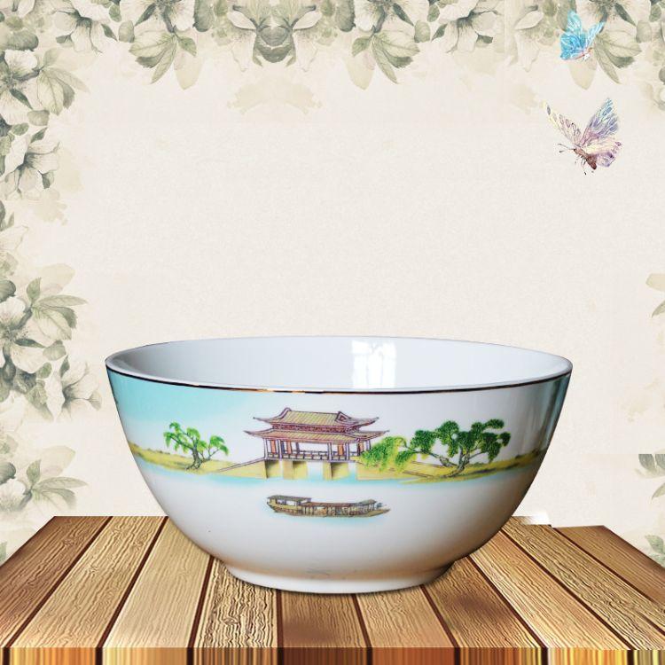 唐山骨质瓷餐具 28头西湖盛宴 中式 陶瓷餐具系列套装批发