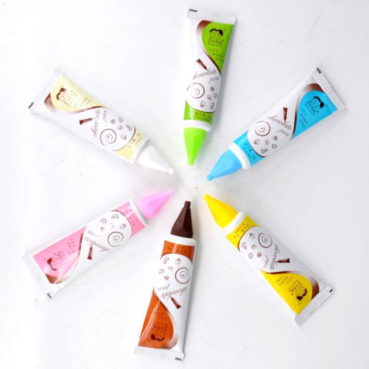 厂家批发巧克力酱笔 蘸酱DIY装饰烘焙甜品裱花工具 6种口味可选