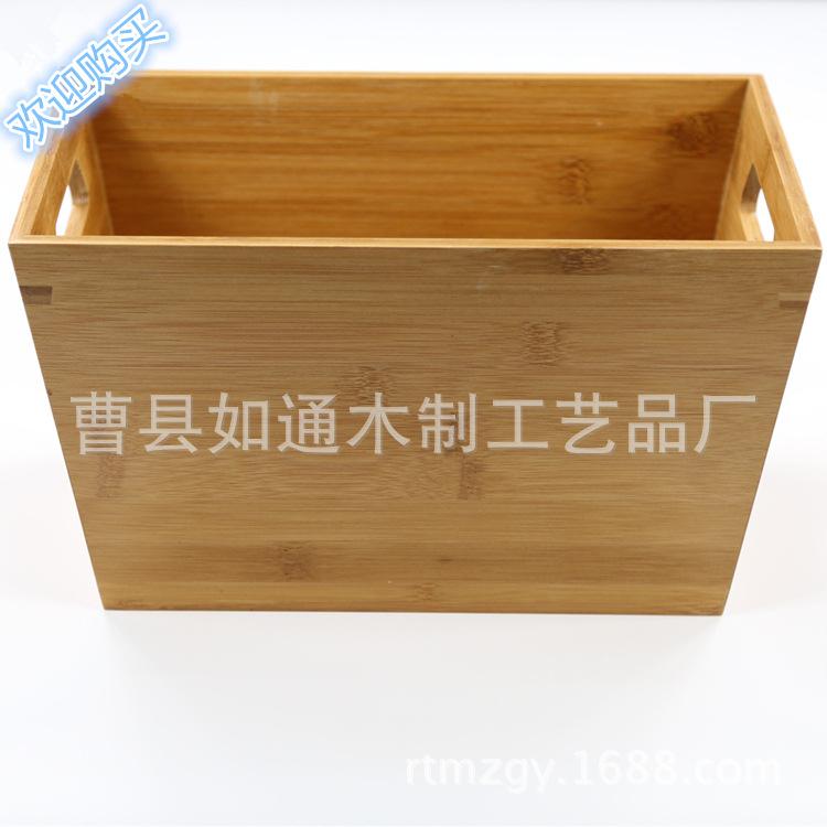 厨房桌面收纳盒多用竹制餐具卧室玩具收纳架
