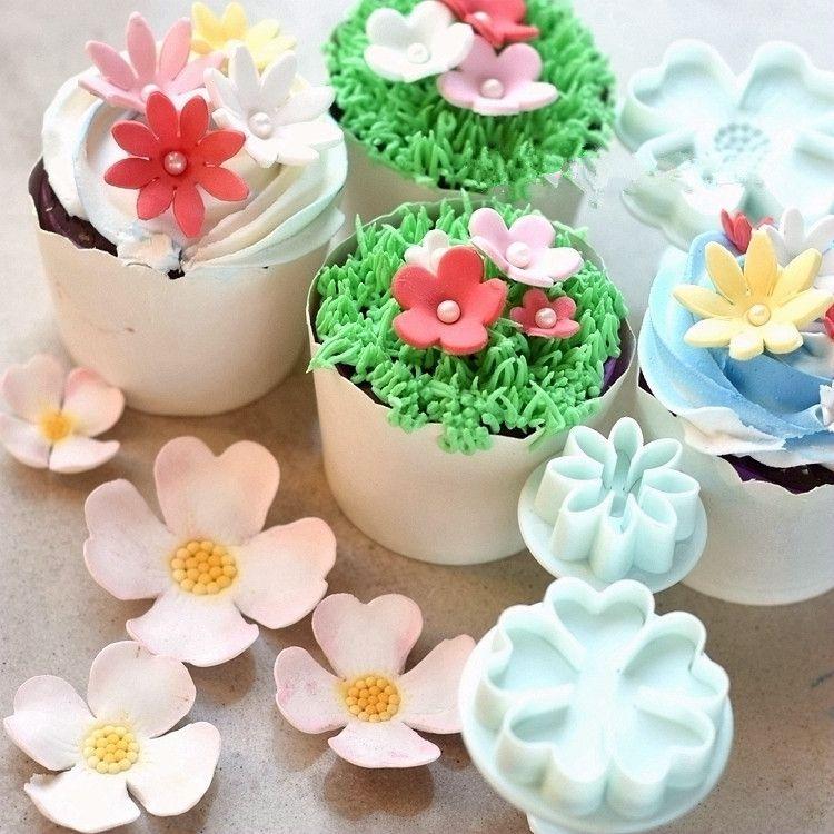四款花朵弹簧压花模饼干模翻糖蛋糕模具|烘焙DIY工具